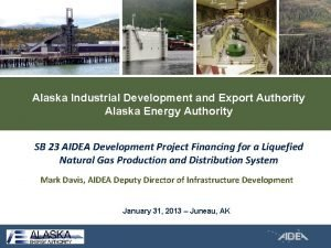 Alaska Industrial Development and Export Authority Alaska Energy
