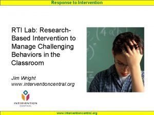 Response to Intervention RTI Lab Research Based Intervention