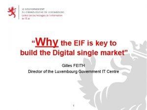 placer le logo de ladministation Why the EIF