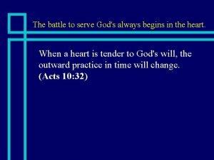 The battle to serve Gods always begins in