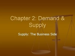 Chapter 2 Demand Supply The Business Side Supply
