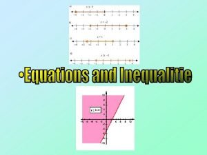 Introduction This Chapter focuses on solving Equations and