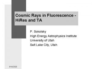 Cosmic Rays in Fluorescence Hi Res and TA