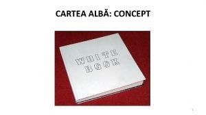 CARTEA ALB CONCEPT 1 PROPUNERI PRIVIND STRUCTURA INTERN