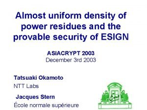 Almost uniform density of power residues and the