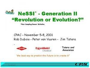 Ne SSI Generation II Revolution or Evolution New