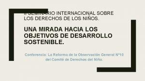 II SEMINARIO INTERNACIONAL SOBRE LOS DERECHOS DE LOS