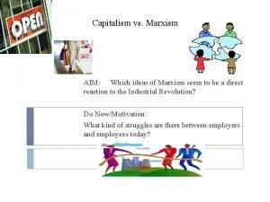 Capitalism vs Marxism AIM Which ideas of Marxism