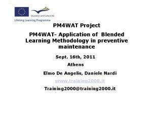 PM 4 WAT Project PM 4 WAT Application