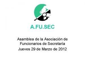 A FU SEC Asamblea de la Asociacin de