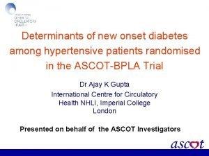 Determinants of new onset diabetes among hypertensive patients