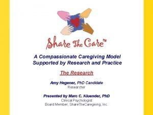 A Compassionate Caregiving Model Supported by Research and