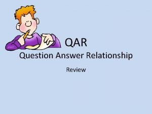 QAR Question Answer Relationship Review Right There Right