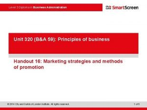 Level 3 Diploma in Business Administration Power Point