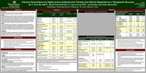 Immune Discordance on Highly Active Antiretroviral Therapy Can