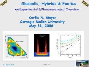 Glueballs Hybrids Exotics An Experimental Phenomenological Overview Curtis