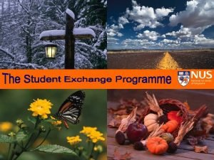 The Student Exchange Programme Checklist Student Exchange Programme