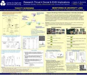 Research Thrust 4 Social EHS Implications Northeastern University