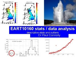 EART 10160 stats data analysis descriptive stats and