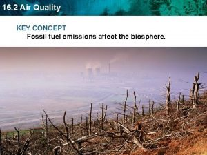 16 2 Air Quality KEY CONCEPT Fossil fuel