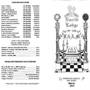 EUCLID THE TRADITION CONTINUES March 2012 IMPORTANT In