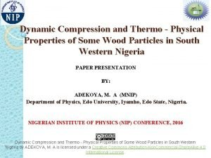 Dynamic Compression and Thermo Physical Properties of Some
