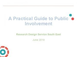 A Practical Guide to Public Involvement Research Design