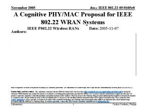 November 2005 doc IEEE 802 22 050105 r