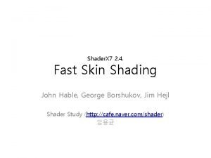 Shader X 7 2 4 Fast Skin Shading