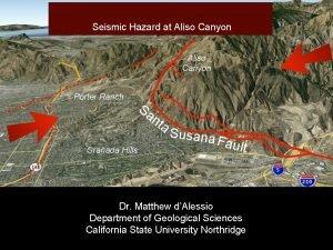 Seismic Hazard at Aliso Canyon Porter Ranch Sa