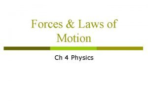 Forces Laws of Motion Ch 4 Physics Forces