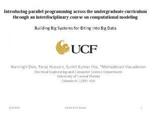 Introducing parallel programming across the undergraduate curriculum through