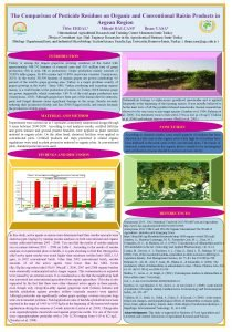 The Comparison of Pesticide Residues on Organic and
