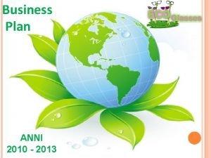 Business Plan ANNI 2010 2013 Sommario In questo