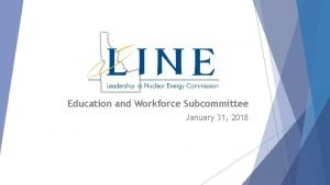 Education and Workforce Subcommittee January 31 2018 Members