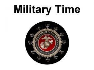 Military Time Military Time Military time is a
