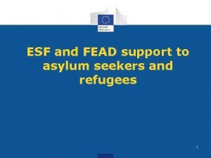 ESF and FEAD support to asylum seekers and