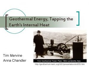 Geothermal Energy Tapping the Earths Internal Heat Tim