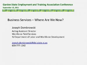 Garden State Employment and Training Association Conference September