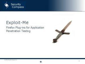 ExploitMe Firefox Plugins for Application Penetration Testing 2008