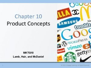 Chapter 10 Product Concepts MKTG 10 Lamb Hair