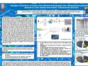 Shotgun Proteomics of whole and depleted hemolymph from