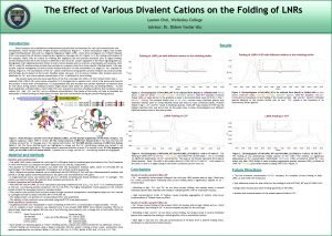 The Effect of Various Divalent Cations on the