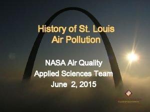 History of St Louis Air Pollution NASA Air