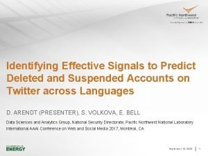 Identifying Effective Signals to Predict Deleted and Suspended
