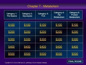 Chapter 7 Metabolism Category 1 The Basics Category