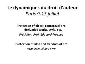 Le dynamiques du droit dauteur Paris 9 13