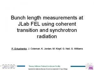 Bunch length measurements at JLab FEL using coherent