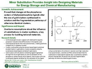 Minor Substitution Provides Insight into Designing Materials for