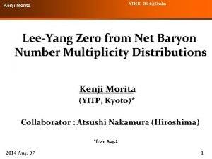 ATHIC 2014Osaka Kenji Morita LeeYang Zero from Net